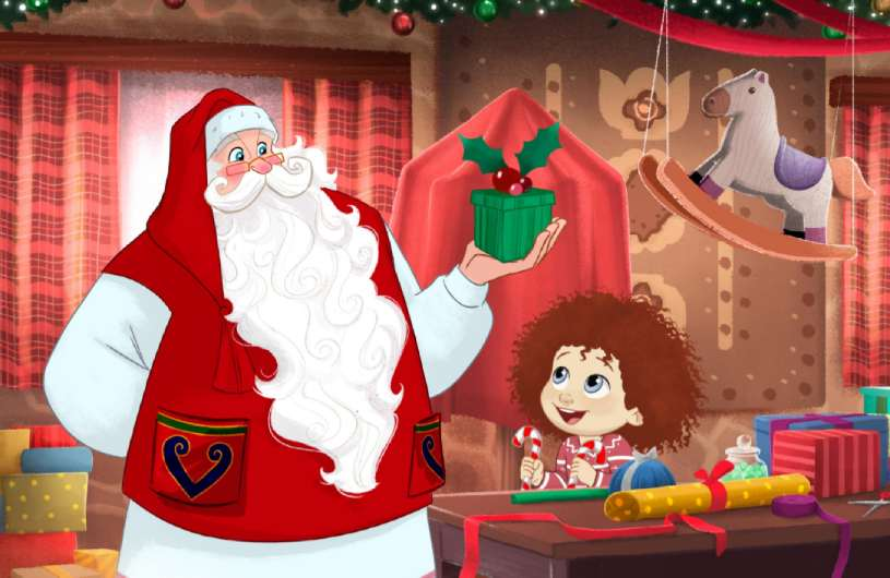 personalized book with Santa Claus