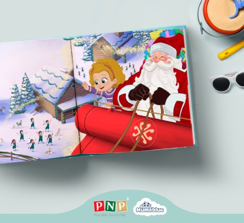 Personalized book with Santa